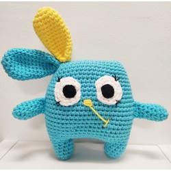 Conejo 'Milu' HANDMADE azul