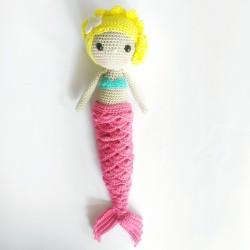 Muñeca Sirenita HANDMADE